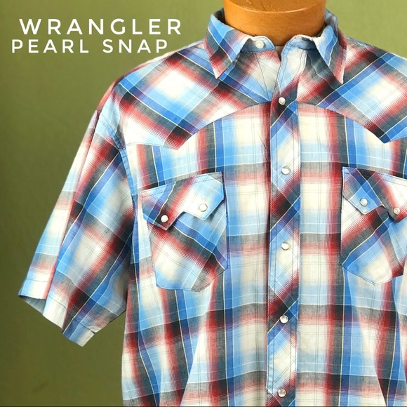 Wrangler Other - WRANGLER Western Pearl Snap XL Short Sleeve Shirt
